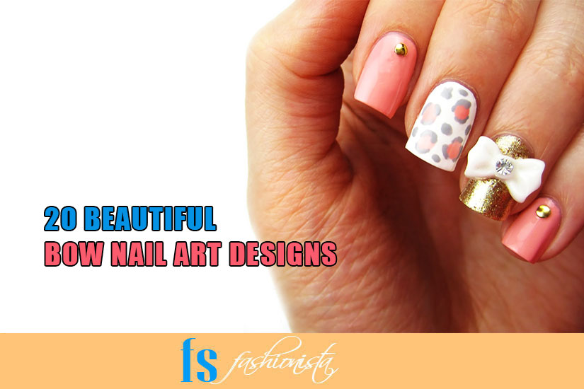 Beautiful Bow Nail Art Designs