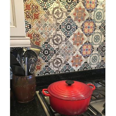 Deco Dots in kitchen backsplash