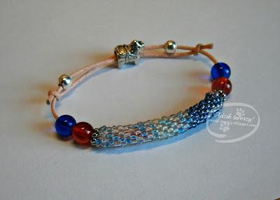 biżuteria ręcznie robiona koraliki, sznurek