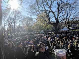 part of the more than 2,000 gathered for the ceremony