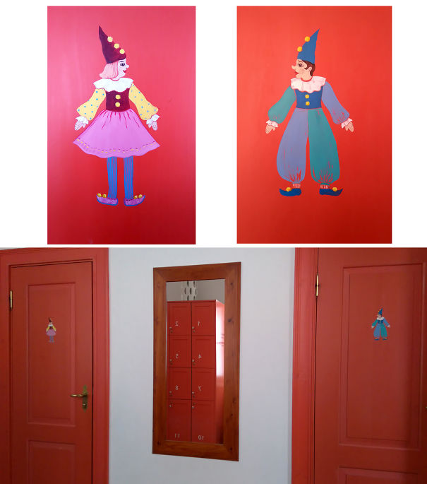 20+ Of The Most Creative Bathroom Signs Ever - Cute Creatures On The Doors In Tartu Toy Museum