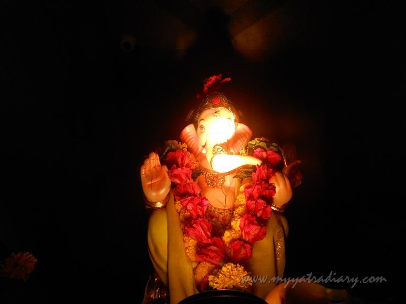 Angelic Ganehsa in Uttarakhand temple theme, Ganesh Pandal Hopping Mumbai