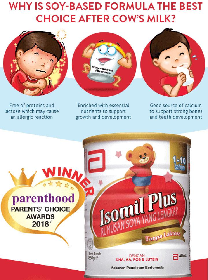 Isomil Plus untuk bayi alahan susu formula dari protein susu lembu