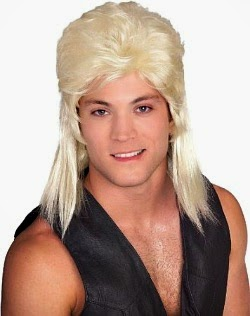 Blonde Mullet Wig for Men