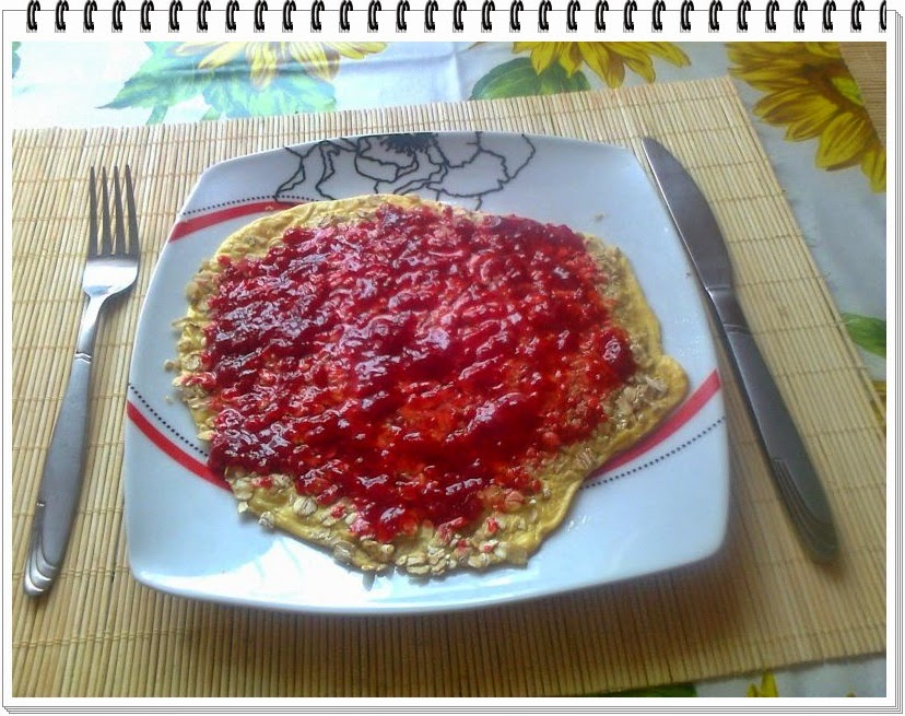 Owsiany omlet zamiast tradycyjnej owsianki :)
