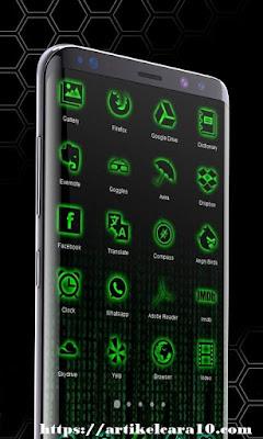 cara mempercantik tampilan android seperti hacker