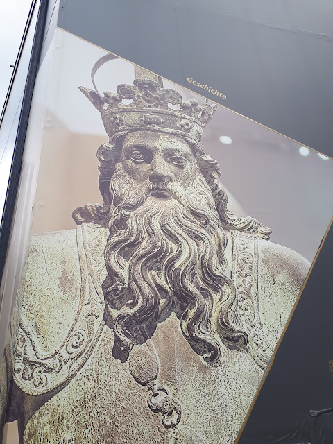 Charlemagne aka Charles the Great in Aachen at Centre Charlemagne