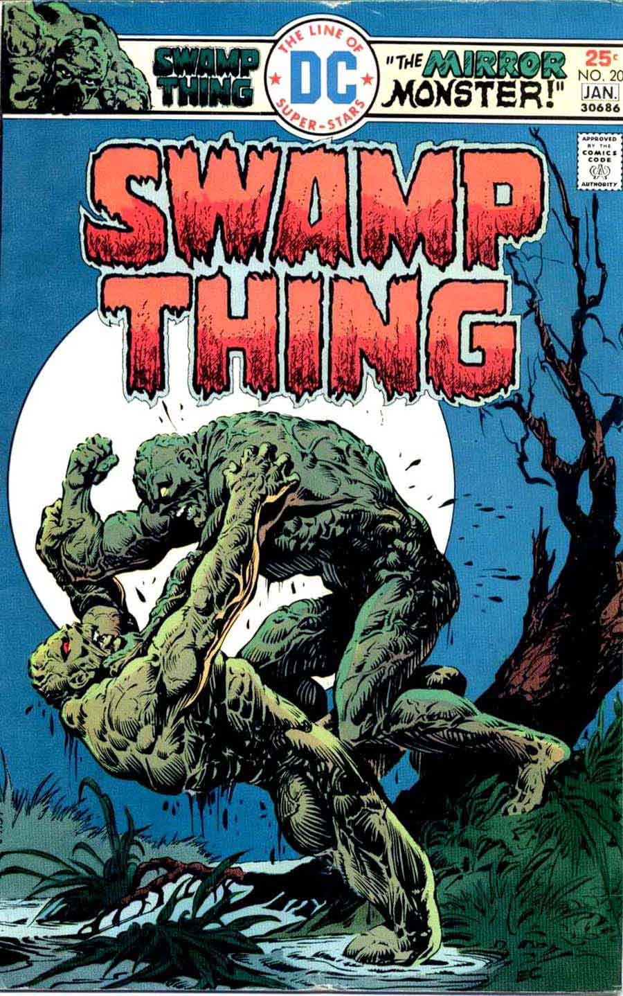 Swamp Thing v1 #20 1970s bronze age dc comic book cover art by Nestor Redondo