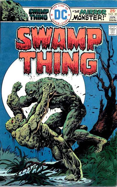 Swamp Thing v1 #20 1970s bronze age dc comic book cover art by Nestor Redondo