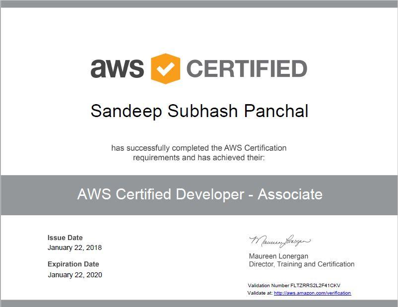 DVA-C00 Certification for AWS Developer Associate | Amazing Draw