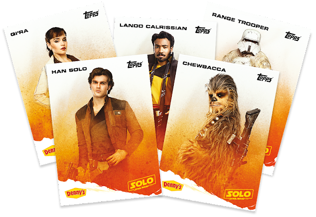 "Denny's ""Solo: A Star Wars Story"" Topps Trading Cards."