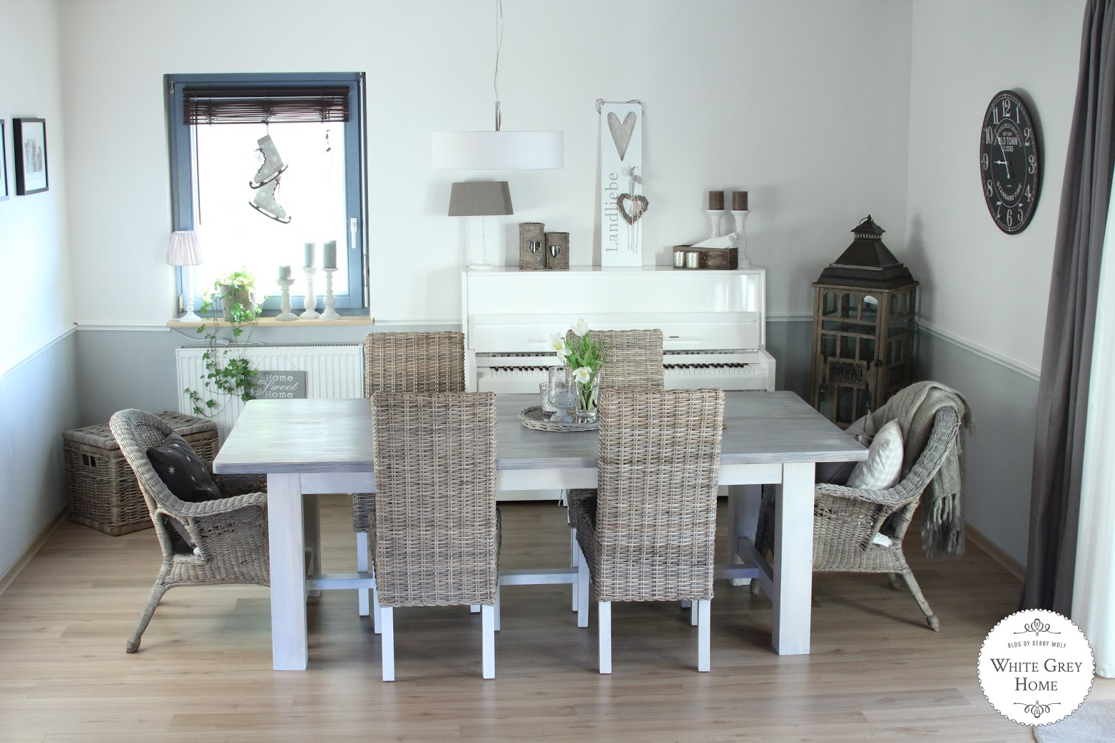 white grey home: Hometour Esszimmer