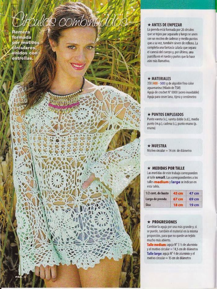 Patrón de blusa a crochet
