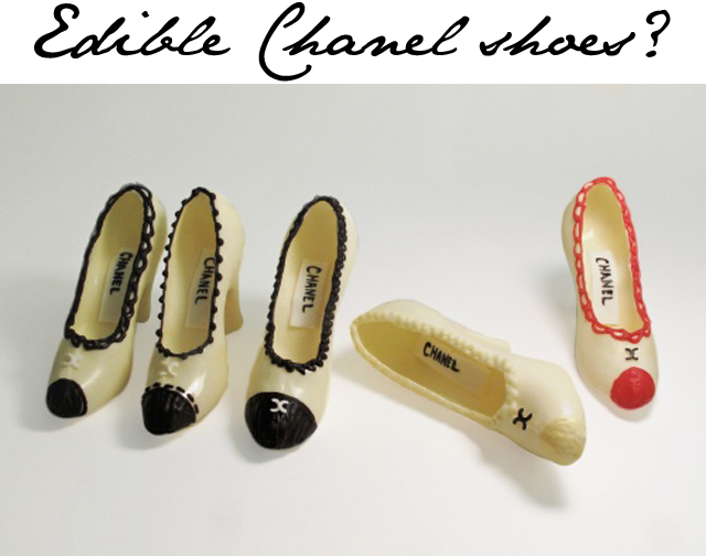 Chocolate chanel shoes