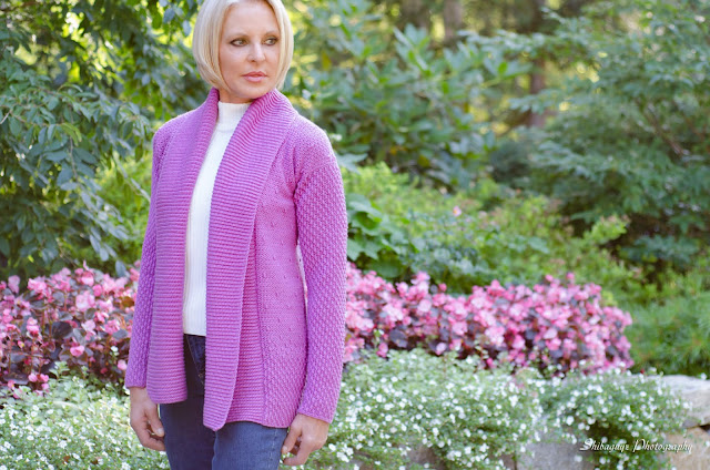 crochet geometry shawl collar cardi