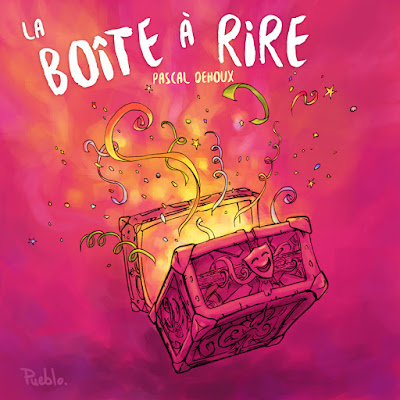 boite rire box illustration cotillon confettis le Pueblo