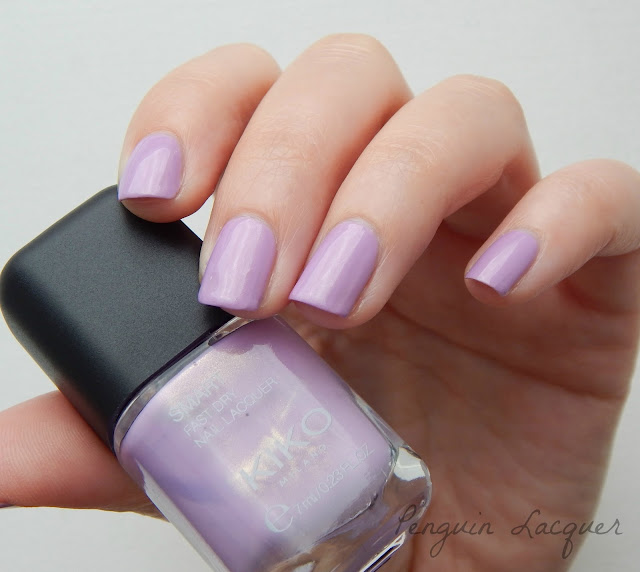 kiko smart fast dry lacquer 023 pearly golden lilac mit flasche
