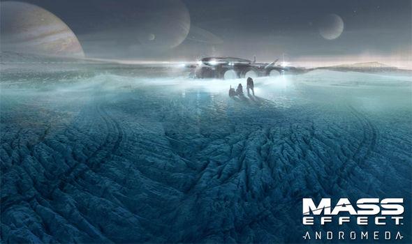 Paisaje en 3D del videojuego de exploración espacial Mass Effect Andromeda
