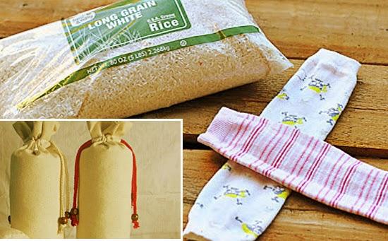 Truques de Mulher - Bolsas de arroz ao invés de água quente