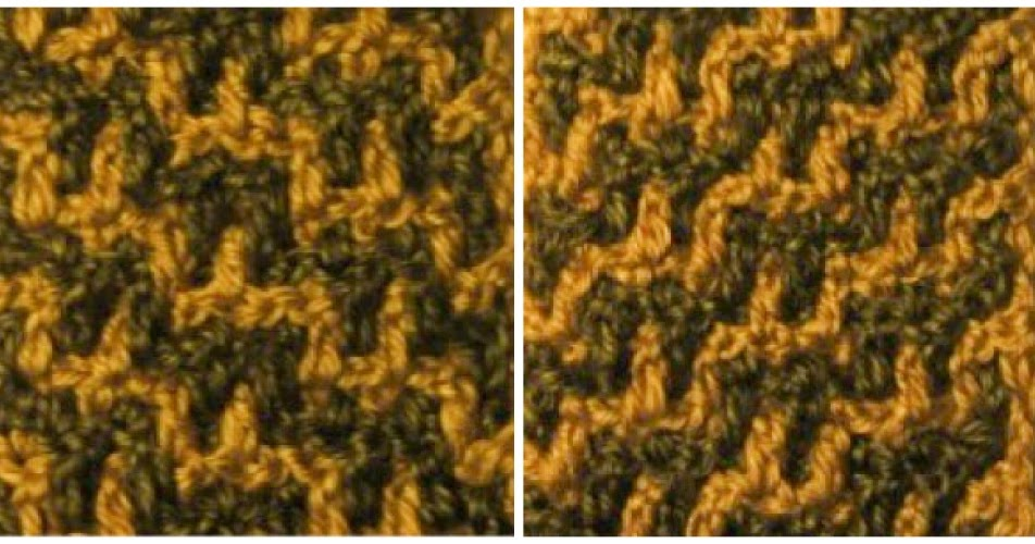 ... of Texture Infinity Scarf, Part 1: Getting Started; Staircase Stitch