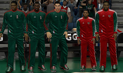 NBA 2K13 Milwaukee Bucks Warmup Jersey Uniforms