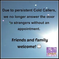 Free Printable No Cold Callers Sign