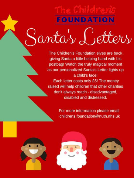 information about how to send The Children's Foundation Christmas letter