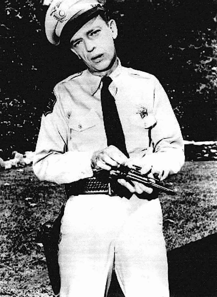 """The Law"" Don Knotts as Sheriff's deputy Barney Fife"