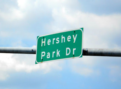 Downtown Street Signs in Hershey Pennsylvania