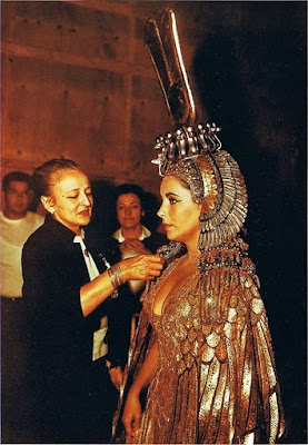 Cleopatra detrás de las cámaras