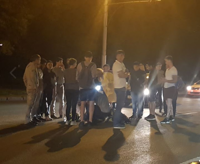 В Уфе два человека на мотоцикле попали в ДТП
