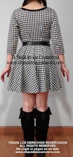 Paso a paso trazado de patrón de costura y confección vestido estilo skater
