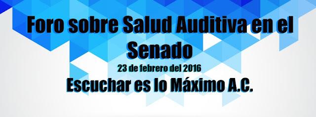 Foro sobre Salud Auditiva en el Senado