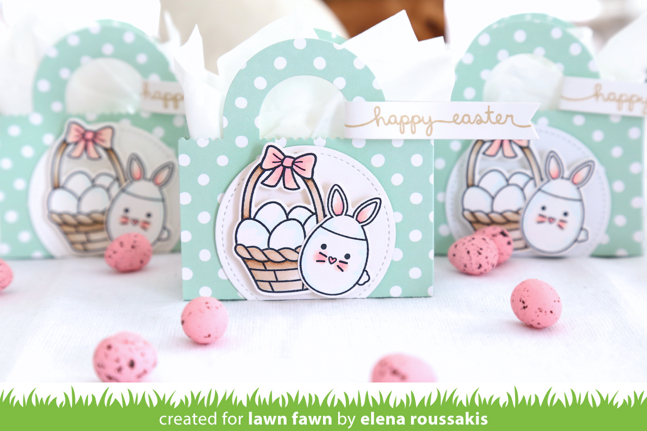 The lawn fawn blog: easter favor tote bags by elena
