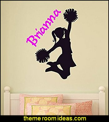Cheerleader Wall Decal Girls Bedroom