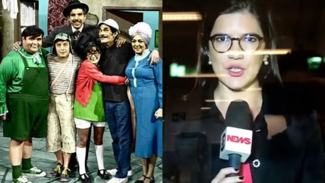 [Vídeo] Globo comete gafe épica ao transmitir a turma do Chaves durante reportagem