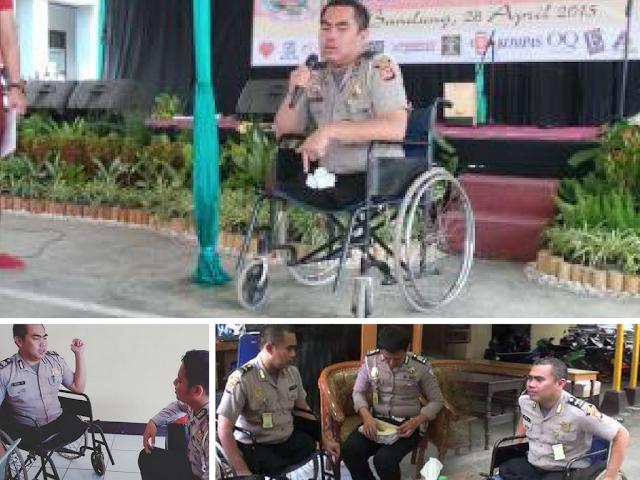Mencontoh Ketegaran Aiptu Beni, Polisi Tanpa Kaki yang Menginspirasi