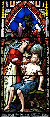 Imagem do bom Samaritano, vitral, #1