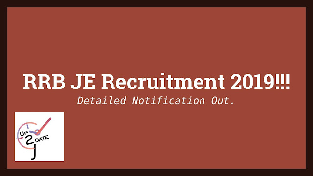 RRB JE Recruitment 2019