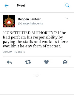 Lautechstudents tweet