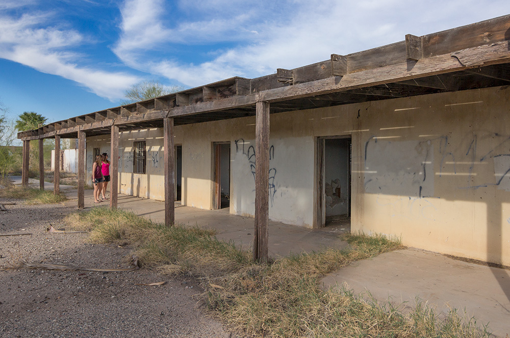 deserted abandoned middle of nowhere internment camp from World War II Arizona desert