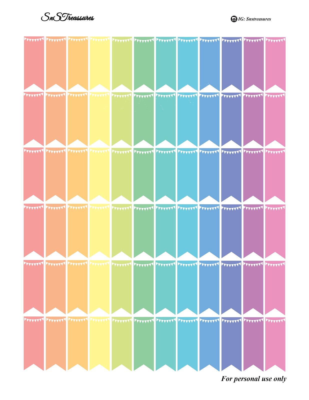 Rainbow Page Flag Freebie Snstreasures