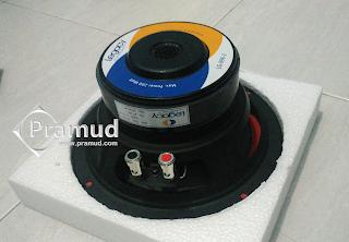 review, spesifikasi lengkap dan kelebihan maupun kekurangan speaker subwoofer 8 inchi legacy LG-896-2 - pramud blog