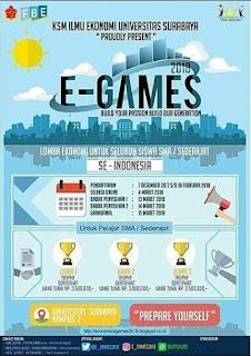 Lomba Ekonomi E-Games SMA Sederajat 2018 by Univ. Surabaya