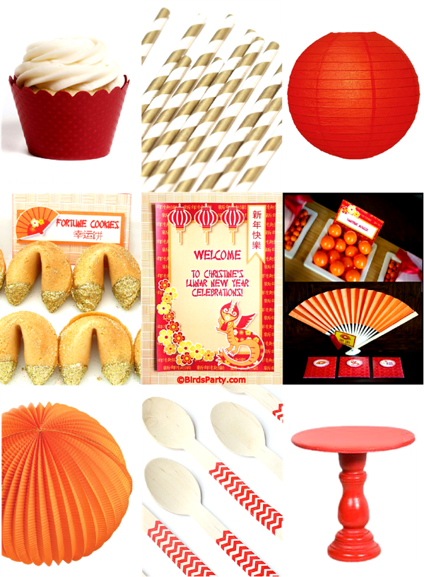 Chinese New Year Party Ideas & Printables - BirdsParty.com