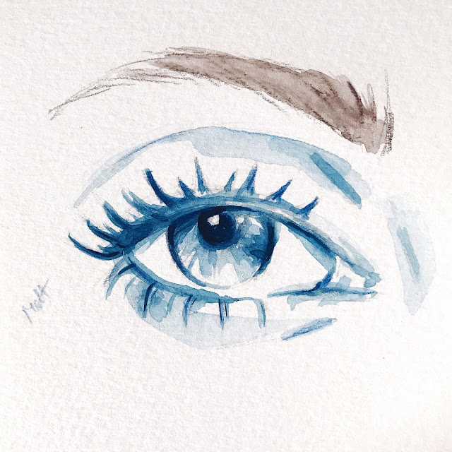 eye, watercolor