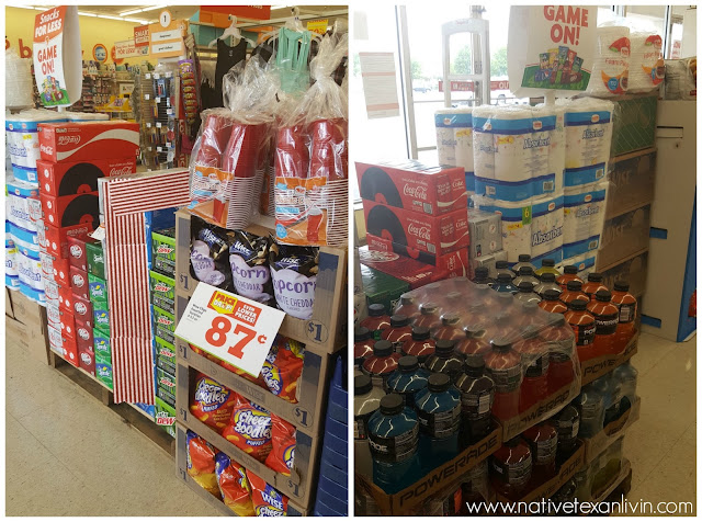 Tailgating essentials at Family Dollar Coca-Cola, Powerade & Wise Chips