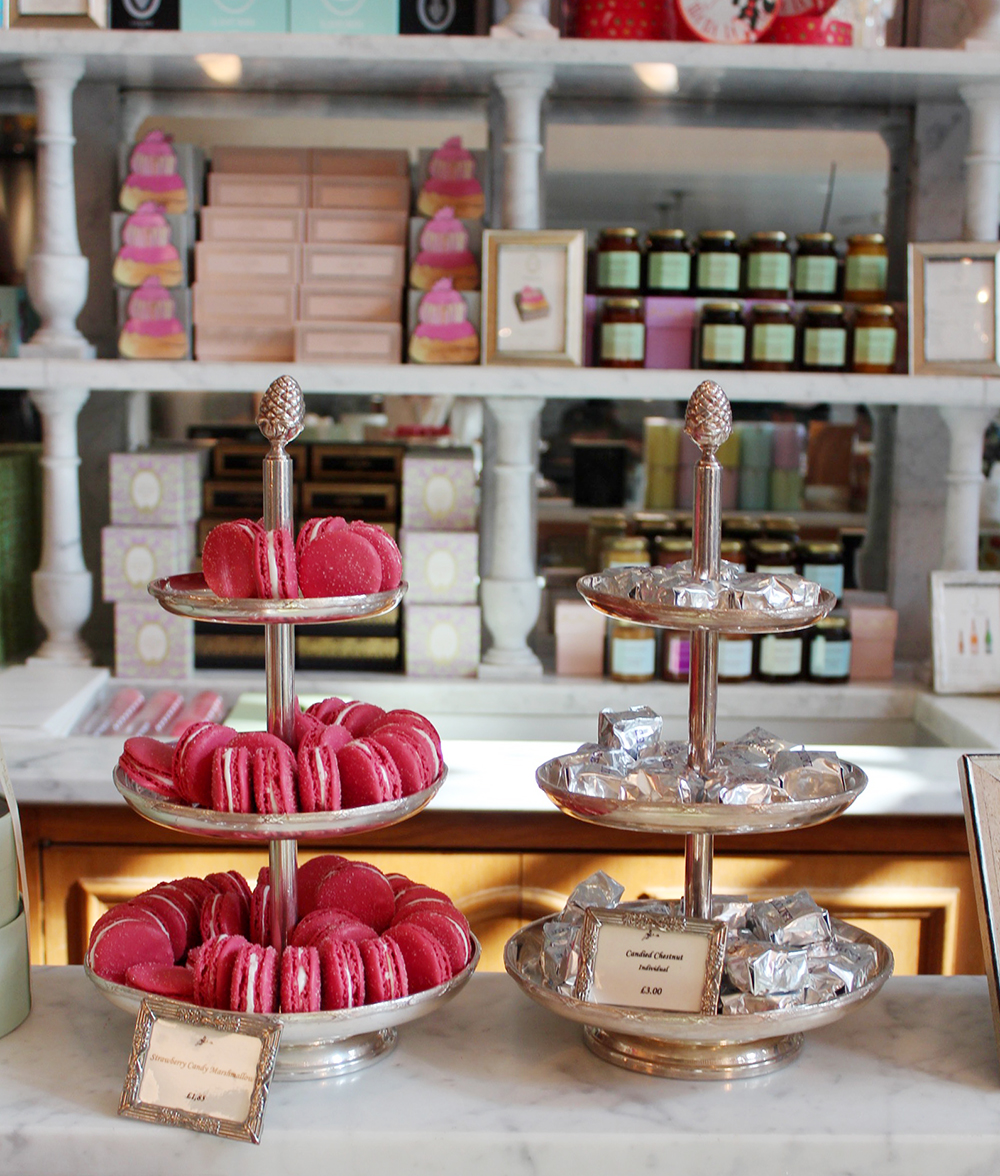harrods, laduree, macaroons, rose cake, knightsbridge, london