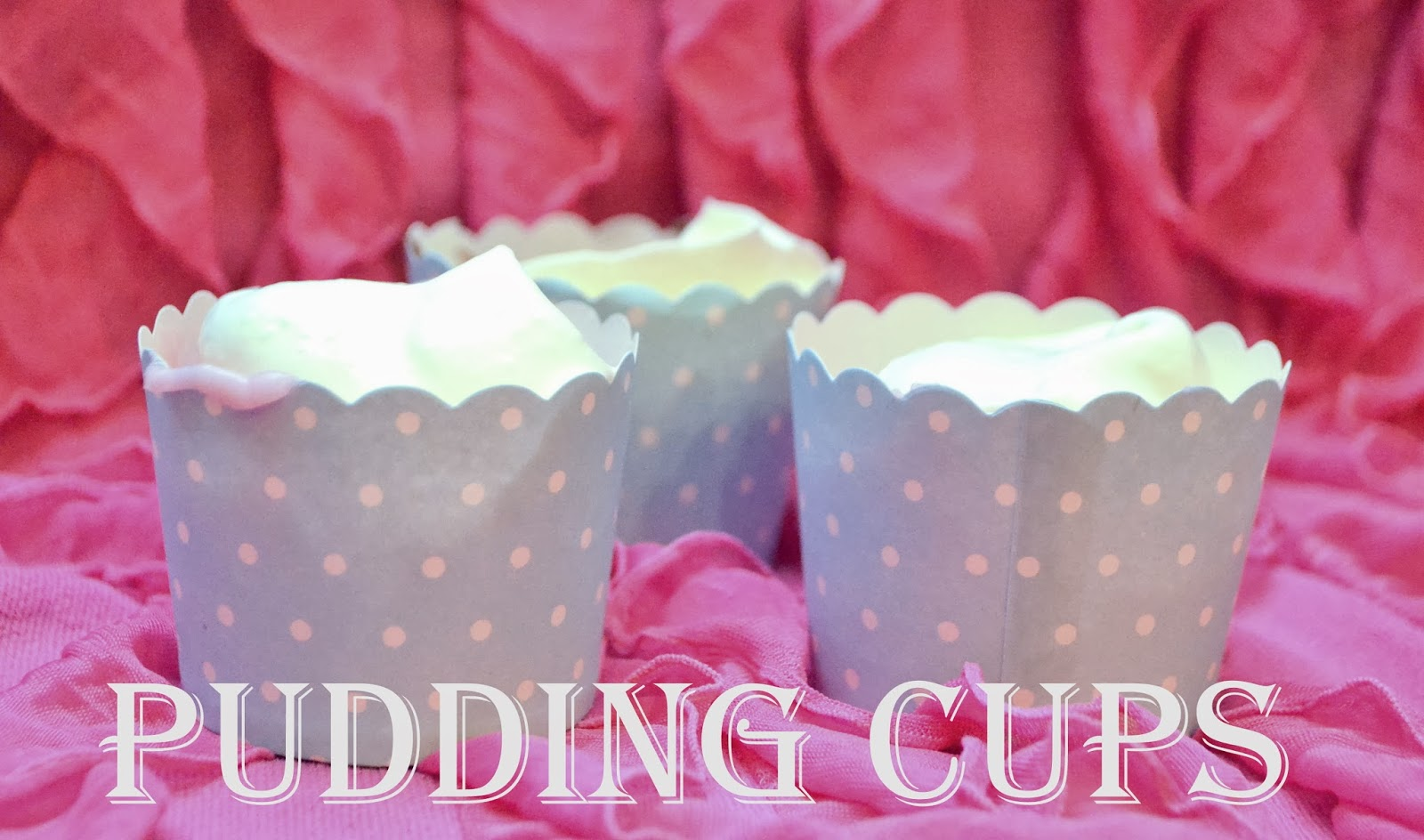 Pudding Cups-So Easy a 4 Year old Can Make Them