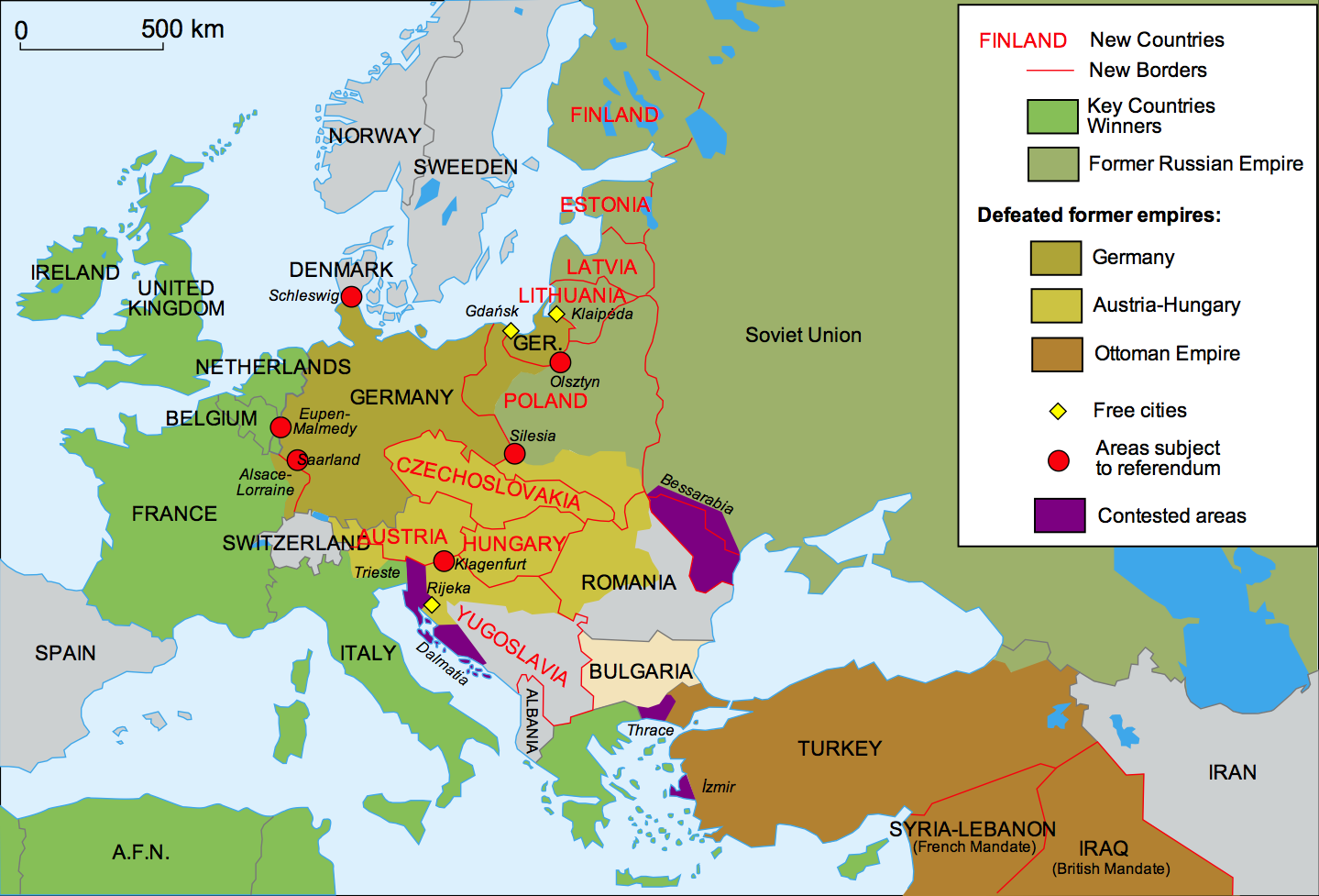 changes to europe after world war i from 40 maps that explain world war i